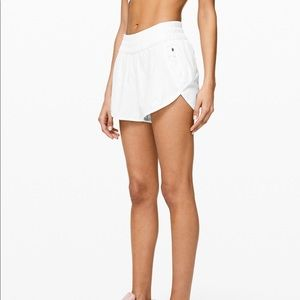 Lululemon white tracker shorts